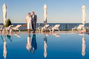 Сватбна снимка басейн Ахелой фар